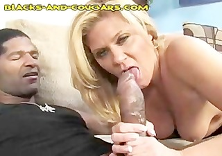sexy cougar amazed by large black jock