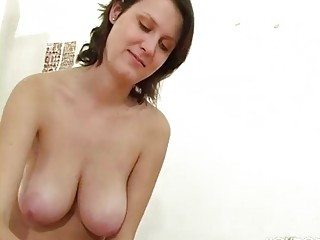 aged hotty with large tits gives a cook jerking