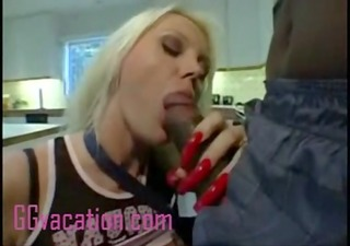 blone housewife acquires fucked by darksome