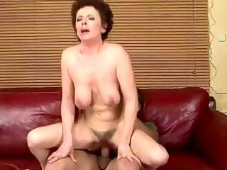 granny gets her unshaved slit fucked hard