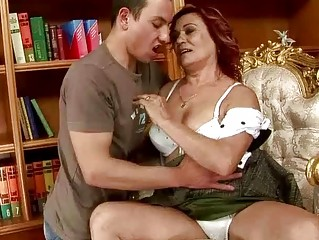 lusty grandma fucking with a guy