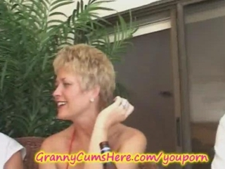 granny has a xxx swingers party and a-hole licking