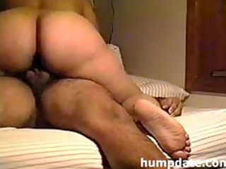 latin wife with large ass riding hubbys cock