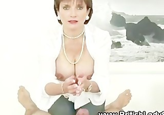lady sonia jerks off oily wang