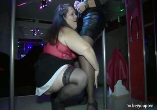0 plump matures make a show into a club