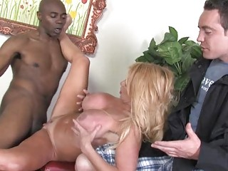juvenile foxy golden-haired milf receives pumped
