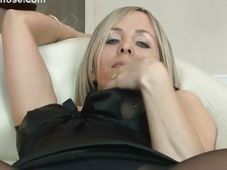 hot golden-haired mother i in pantyhose uncovers