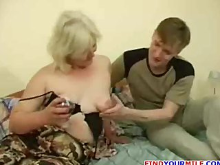 drunk milf enticed by juvenile stud