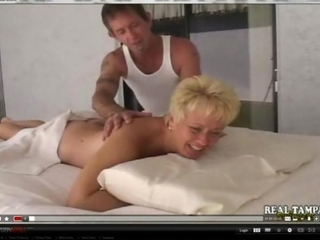 non-professional mother fucked on massage table
