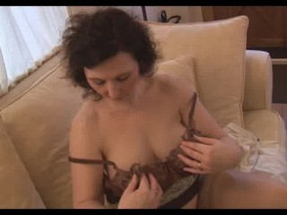 breasty aged mother i panty tease and striptease