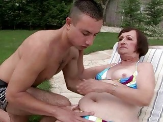 ugly granny having sex with youthful guy