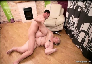naughty fat blond d like to fuck acquires spanked