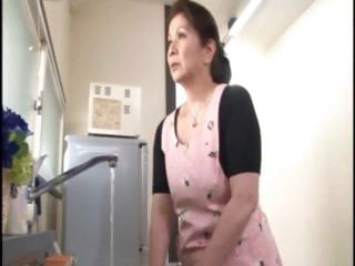 japanese aged housewife does an old fellow and a