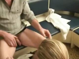 cheating blonde wife fucks an mature man to pay