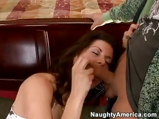 Hot MILF babe cheats on her hubby