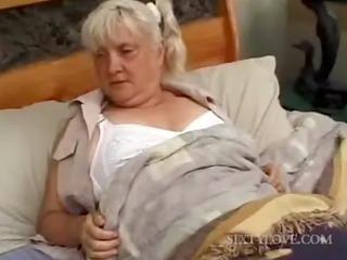 older blondie receives full body massaged