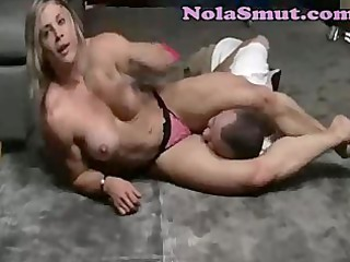 beefy pumped up blonde sex and wrestling