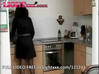 german mature lady in the kitchen