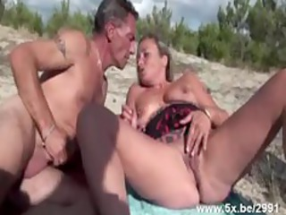 french aged banged on the beach