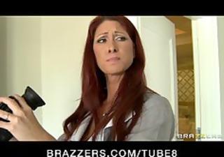 sexy big gazoo tit maid is caught fucking her