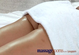 massage rooms corpulent older golden-haired milks