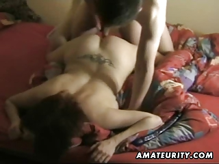 busty dilettante wife sucks and bonks with spunk