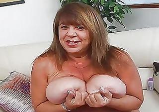 older momma with additional biggest bosom sticks
