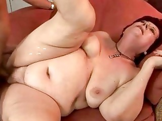 very corpulent grandma getting fucked hard
