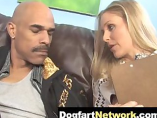 Hot Cougar Julia Ann takes a Huge Black Cock